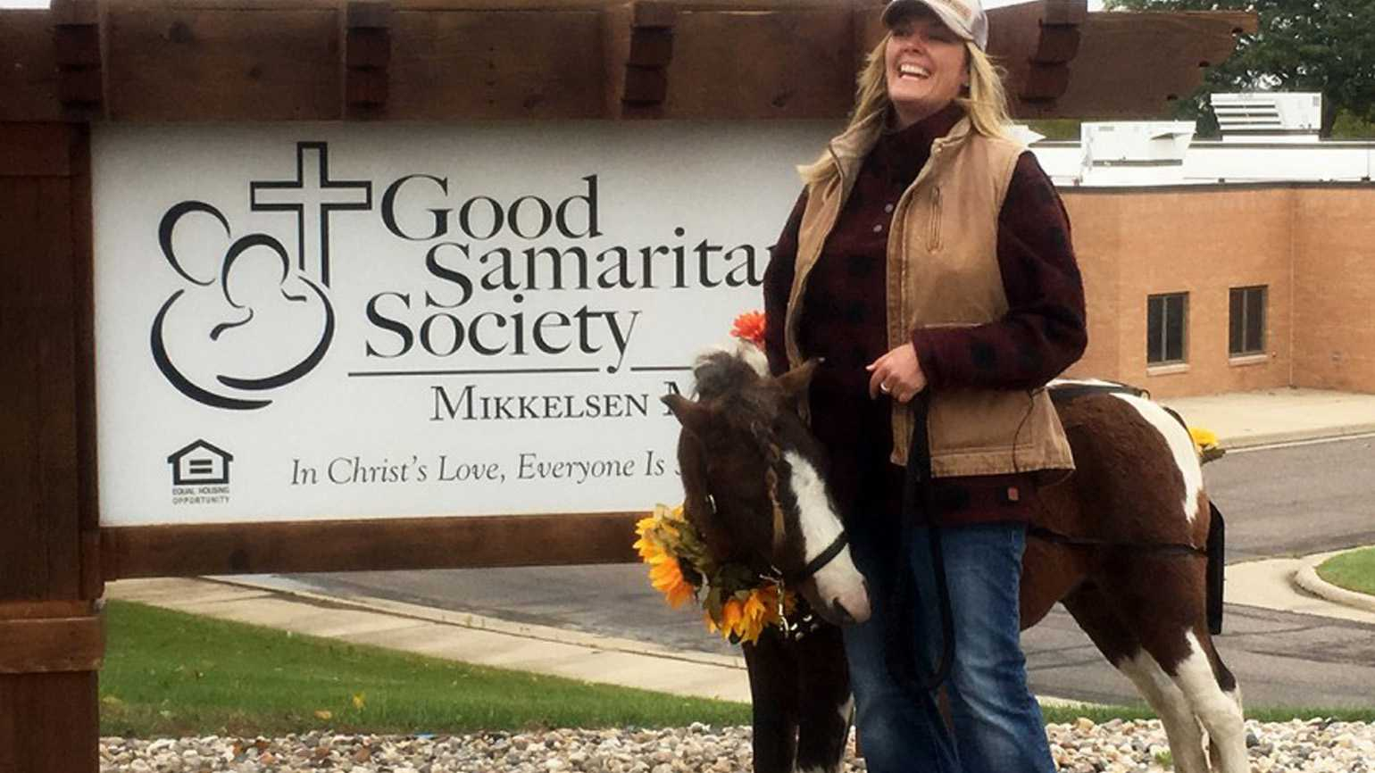 Toby the therapy horse at the campus of the Good Samaritan Society - Windom.