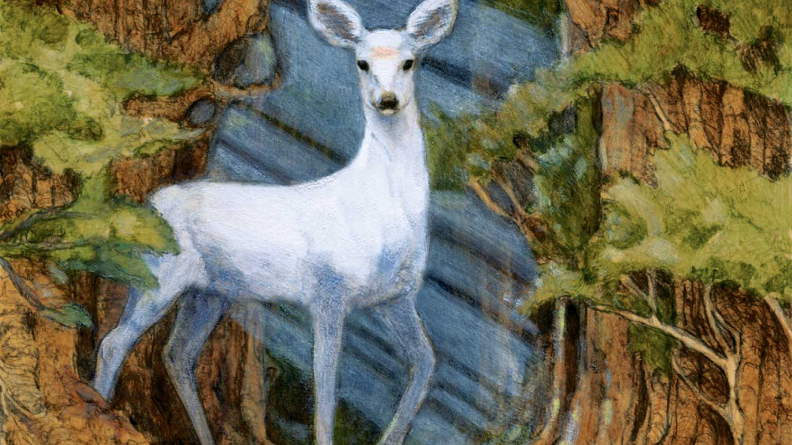An artist's rendering of a white dear