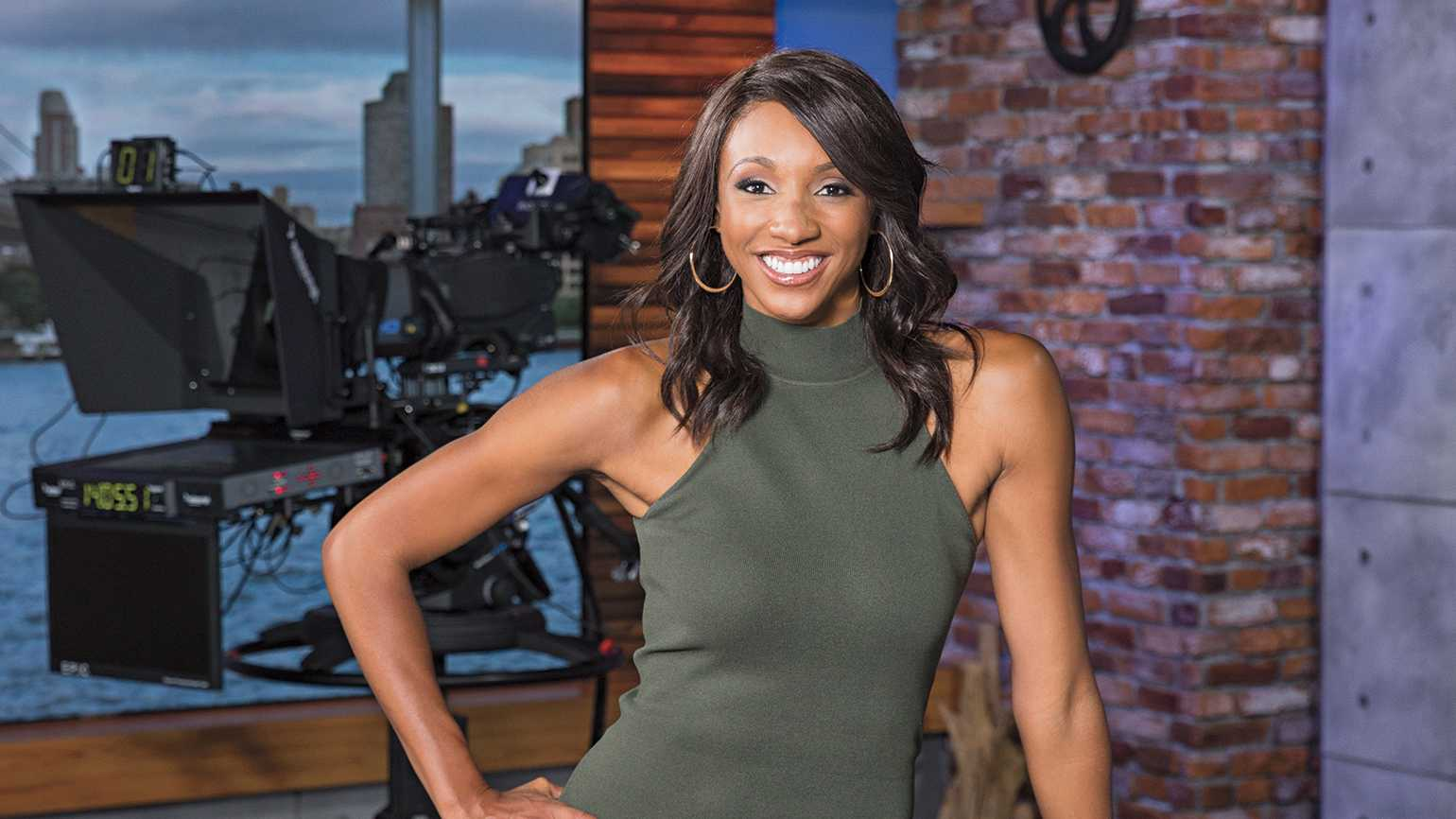 Maria Taylor, on set at the ESPN studios