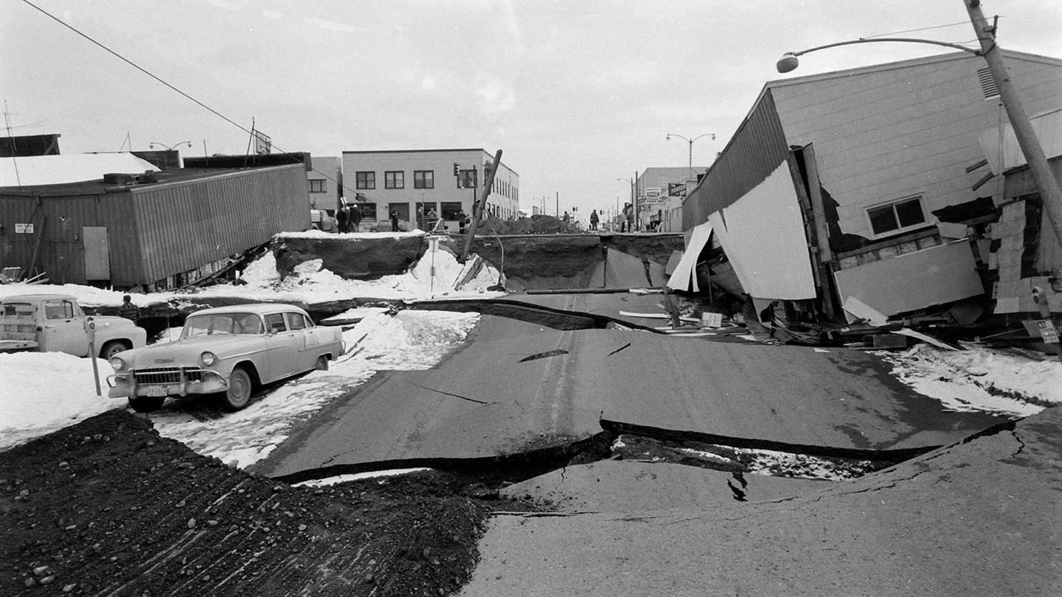 The aftermath of the 1964 Alaska earthquake