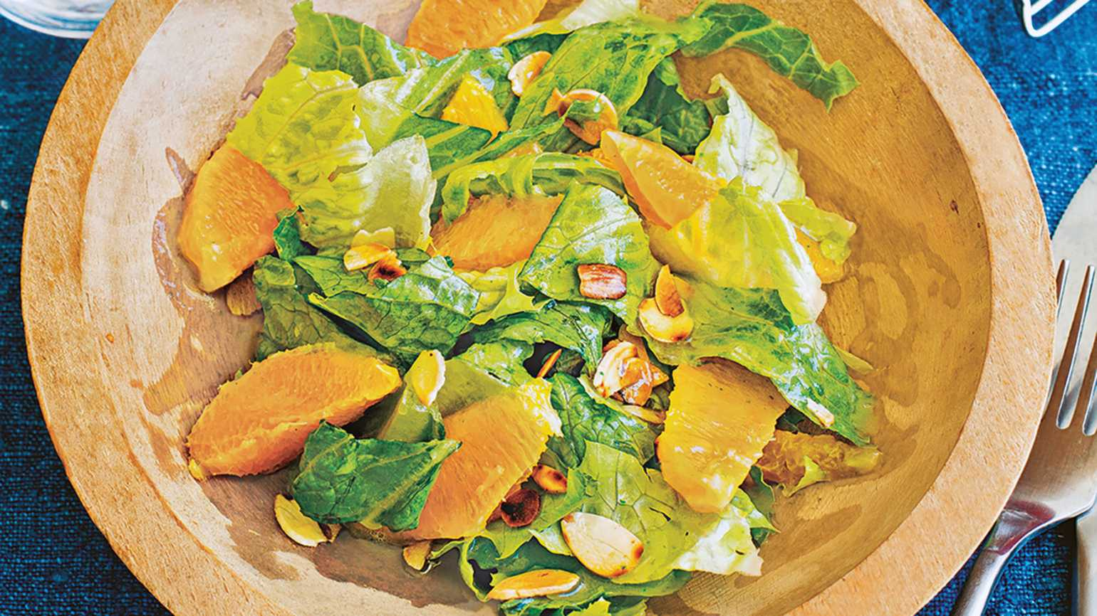 Chef Eddie Hernandez's Orange-Almond Salad With Sweet Serrano-Lime Dressing