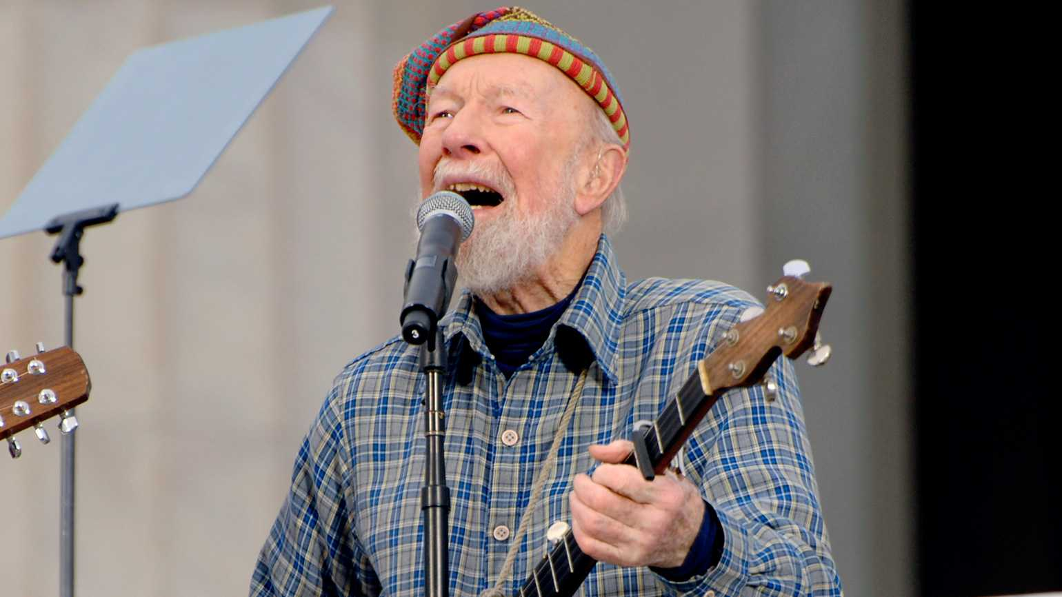 Folk singer and activist Pete Seeger