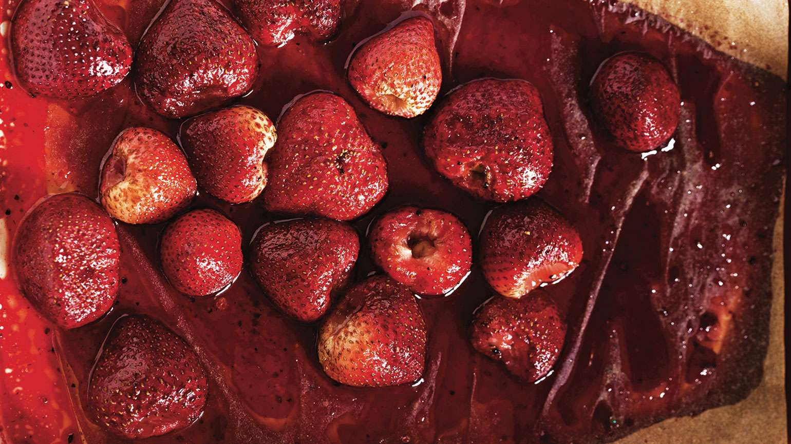 Rebecca Katz's Roasted Strawberries With Pomegranate Molasses