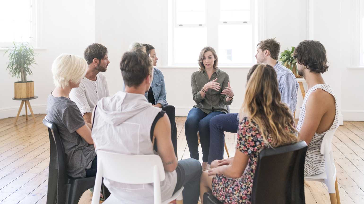 An active support group discussing their personal issues.