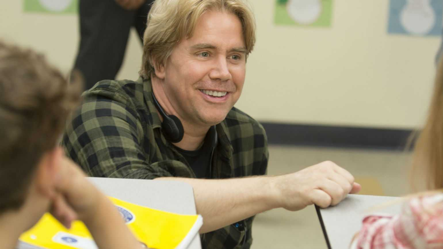 "Stephen Chbosky directing a scene in ""Wonder"""