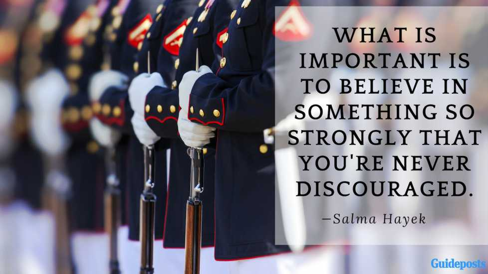 What is important is to believe in something so strongly that you're never discourage.—Salma Hayek