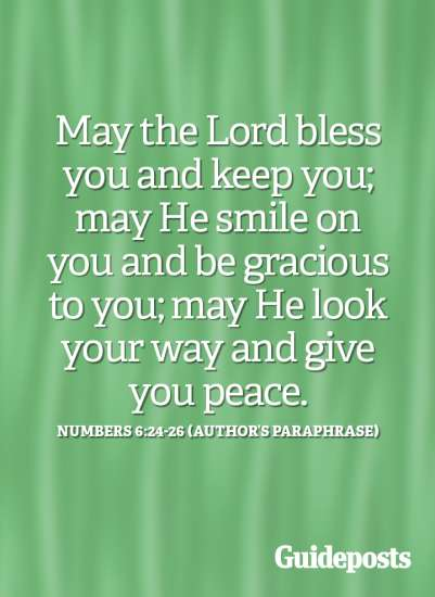 May the Lord bless you and keep you.