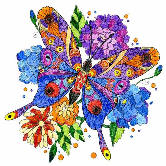 Butterfly colored by Carolyn Land