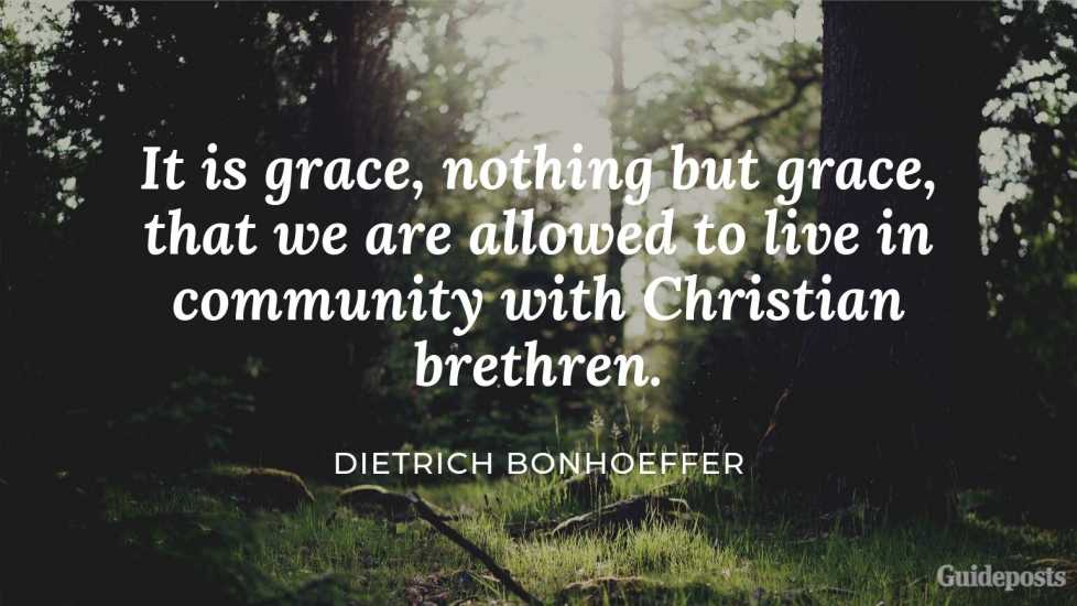 "7 Inspiring Quotes from Dietrich Bonhoeffer German Pastor ""It is grace, nothing but grace, that we are allowed to live in community with Christian brethren."" Inspiration Inspirational Stories of Faith"