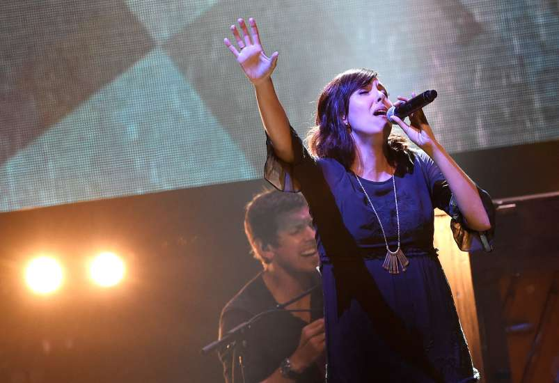 Francesca Battistelli performs at the K-LOVE Fan Awards