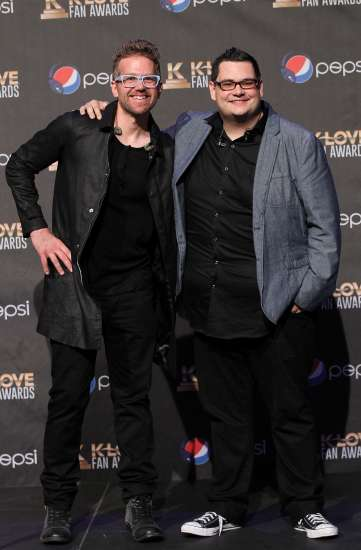 Ben McDonald and David Frey pose together at the KLOVE Fan Awards