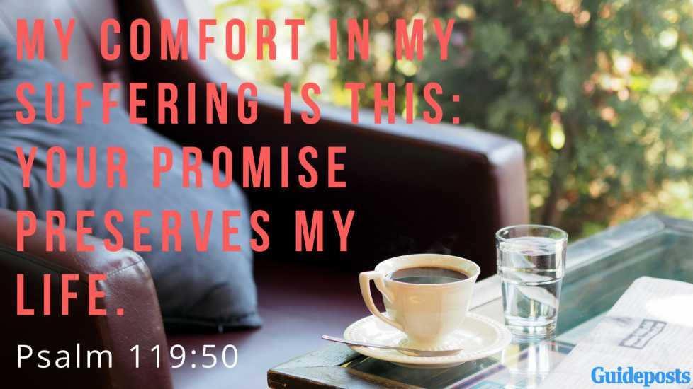 My comfort in my suffering is this: Your promise preserves my life. Psalm 119:50