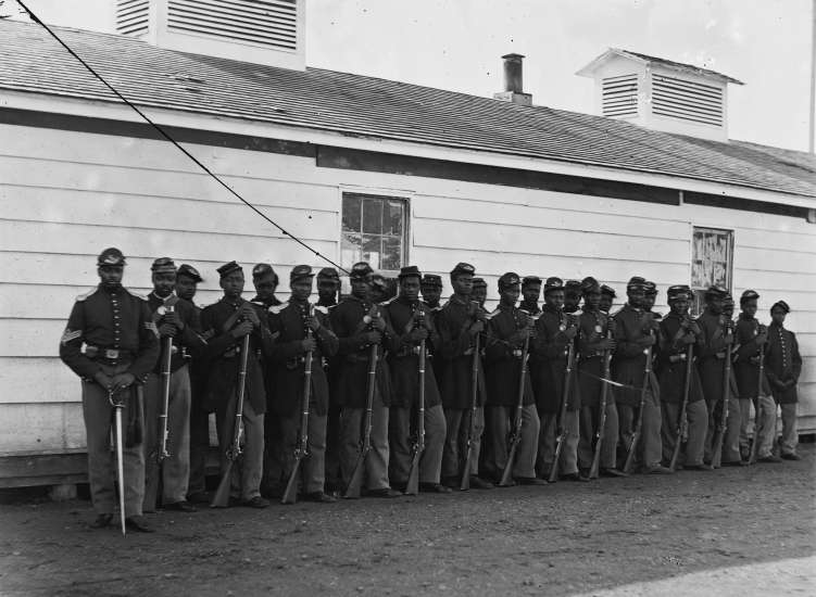 A group of freed slaves and U.S. Colored Troops celebrated Memorial Day in South Carolina