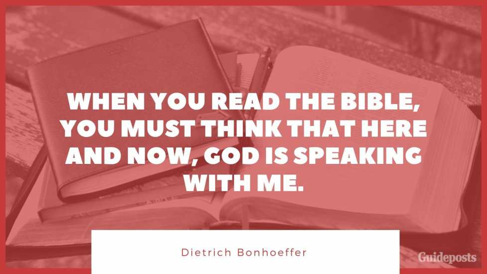 "7 Inspiring Quotes from Dietrich Bonhoeffer German Pastor When you read the Bible, you must think that here and now, God is speaking with me."" Inspiration Inspirational Stories of Faith"