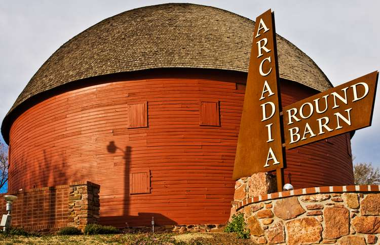 Guideposts: The historic Round Barn in Arcadia, Oklahoma