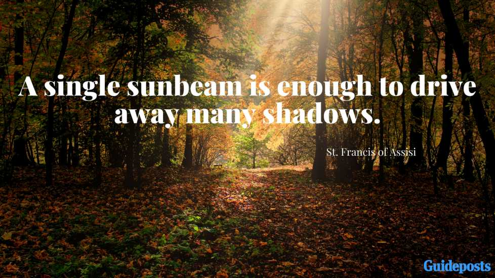 A single sunbeam is enough to drive away many shadows.