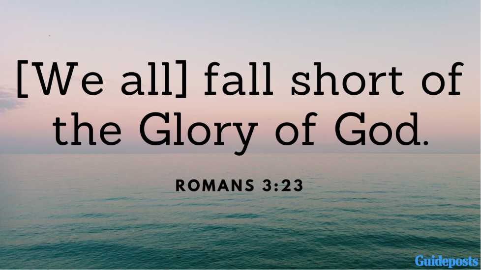 [We all] fall short of the Glory of God. Romans 3:23