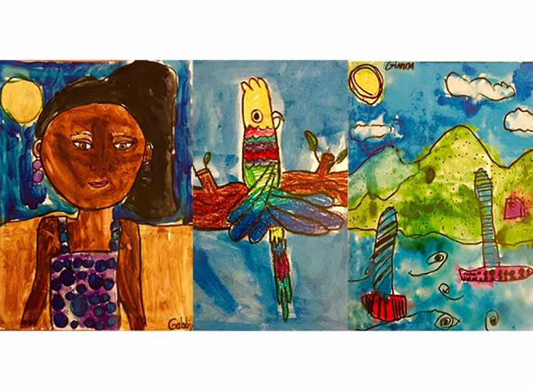 Here are three of Gabby and Gigi's paintings.
