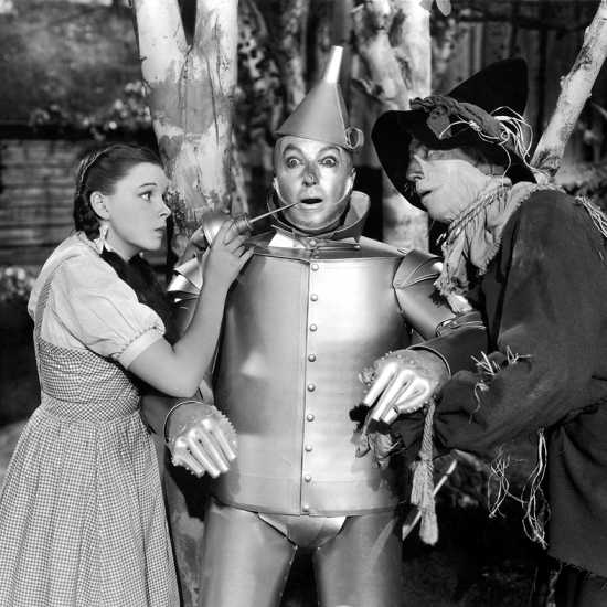Chocolate sauce was substituted in the Tin Man's oil can when it was learned that actual oil didn't read well on film.