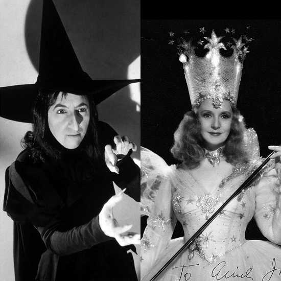 Margaret Hamilton, the actress who played the Wicked Witch of the West, was, at 36, eighteen years younger than Billie Burke, who was 54 when she played the Good Witch of the North.