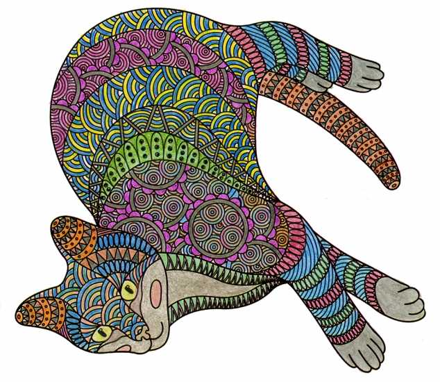 Cat colored by Jane McNeely, Orlando, Florida