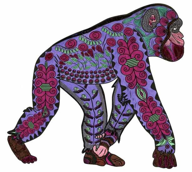 Gorilla colored by Joyce Schaper, Ossian, Indiana