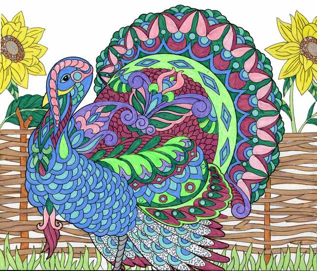 A turkey colored by Karen Geanacopoulos, Milford, Connecticut