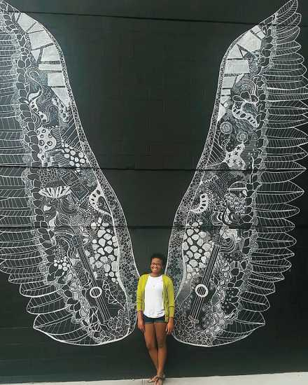 Angel Wings Mural, Nashville, Tennessee