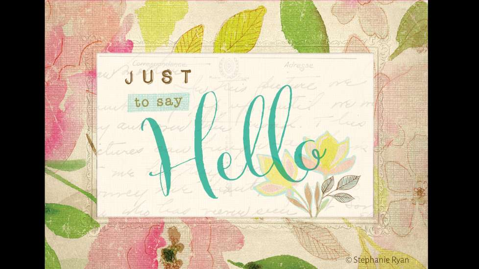 Just to say hello greeting card guideposts just to say hello m4hsunfo