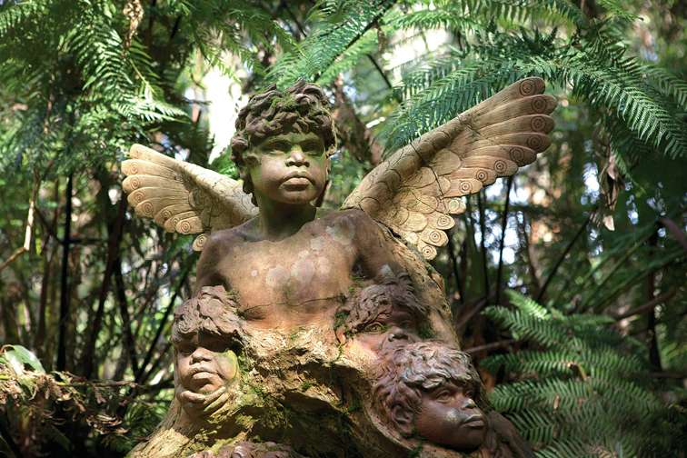 Angel in Australia. Sculpture by William Ricketts, William Ricketts Sanctuary, Mount Dandenong, Australia