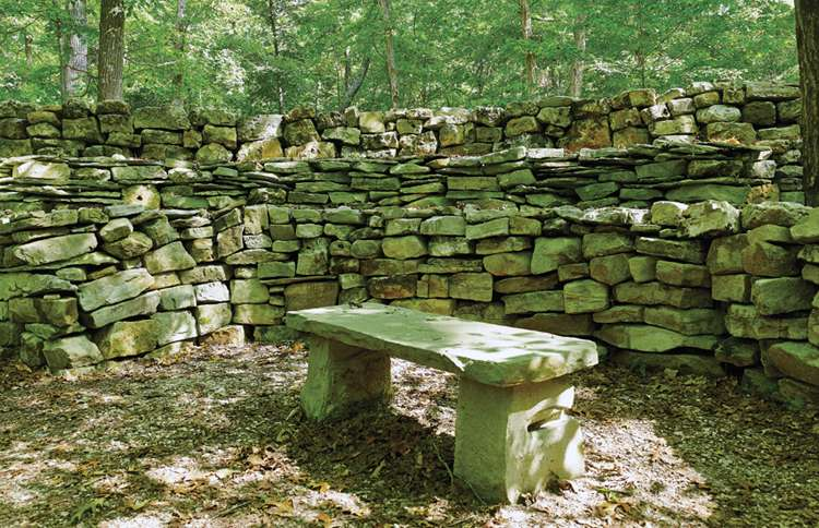 The Wichahpi Commemorative Stone Wall, near Waterloo, Alabama