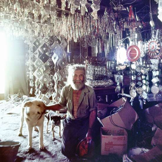 Emery in the shed that served as a his workshop
