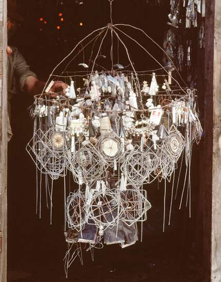 A close-up shot of one of Emery wire creations