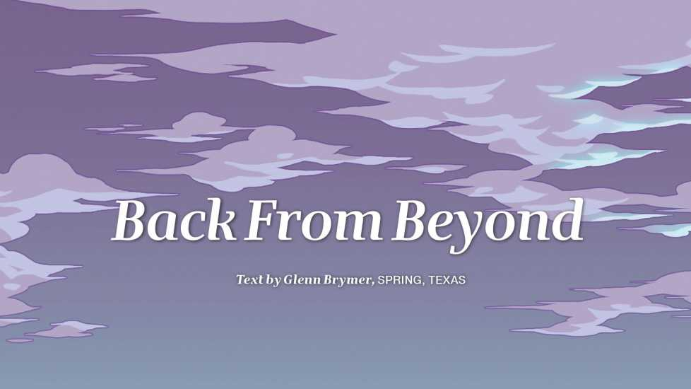 Back from Beyond title slide