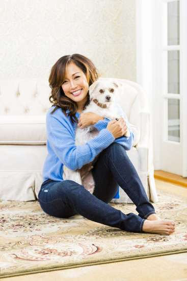 Carrie Ann Inaba cuddles with her pal, Buddy