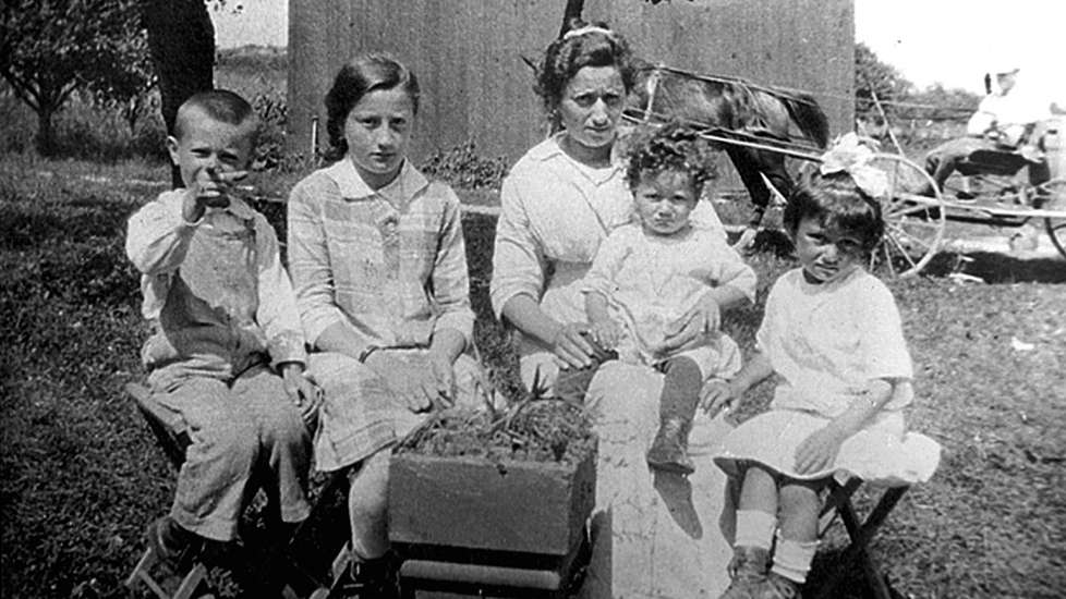 A Melchionne family portrait, c. 1917: baby Elena on mother Amelia's lap