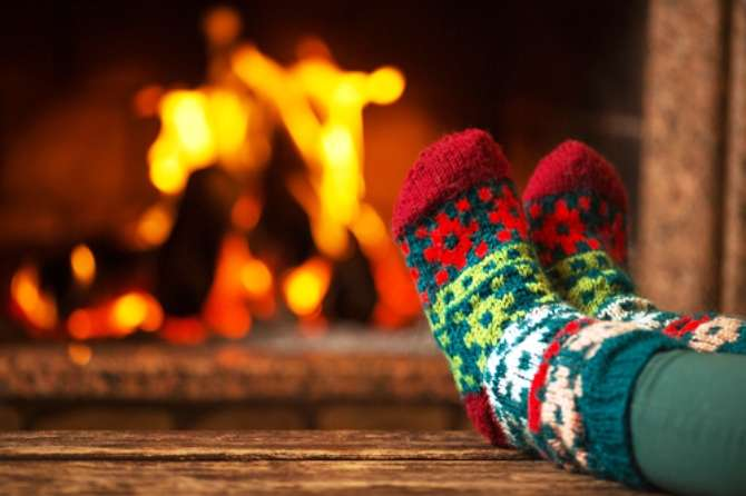 We dig out our woolens and parkas and warm up by the fire.