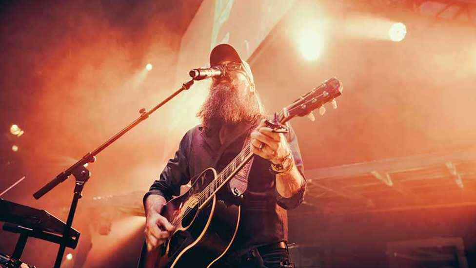David Crowder performing