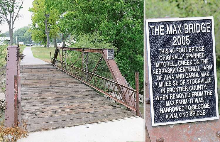 On a 2012 visit to her hometown, Janis sees another sign from Max on the plaque of a bridge that hadn't been there when she last visited.