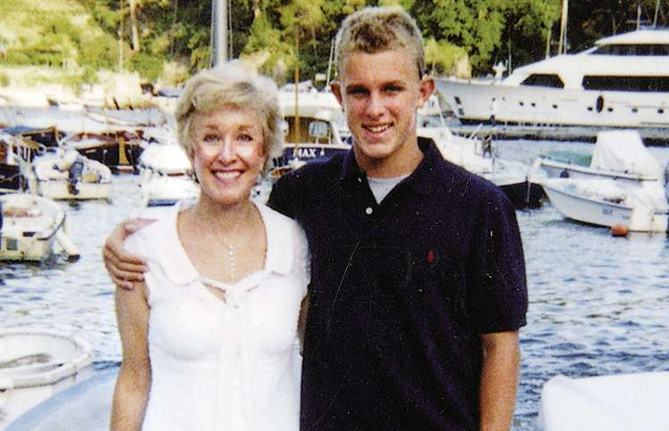 """Janis and Tanner took a trip to Portofino, Italy; the name of the boat directly behind them is """"Max."""""""