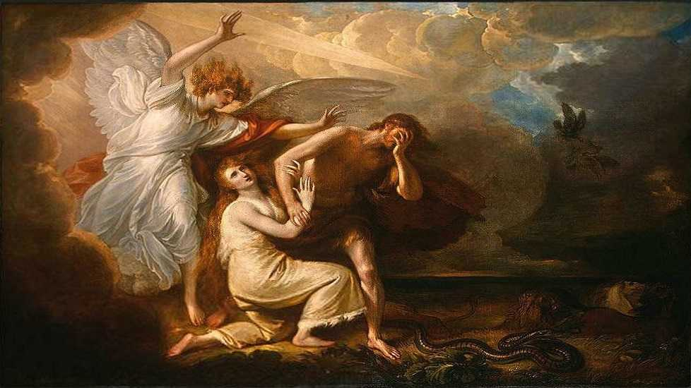 The Expulsion of Adam and Eve from Paradise, 1791, by Benjamin West,