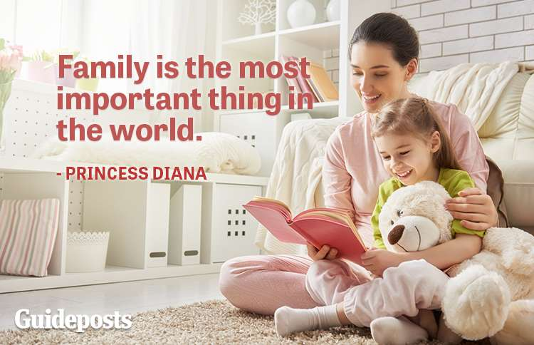 Family is the most important thing in the world.—Princess Diana