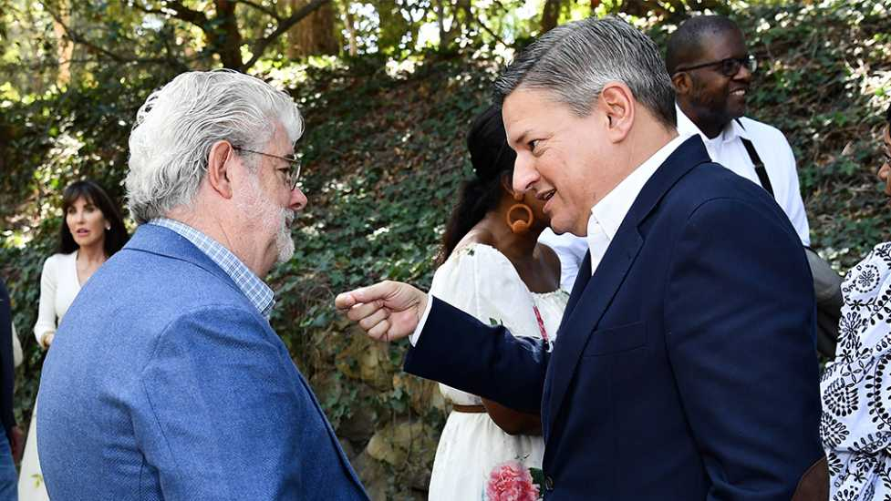 George Lucas and Netflix Executive Ted Sarandos