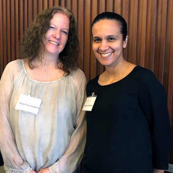 Rosemary McQuire (left) and Carolina Pichardo were among the Guideposts staffers who volunteered for this year's event.