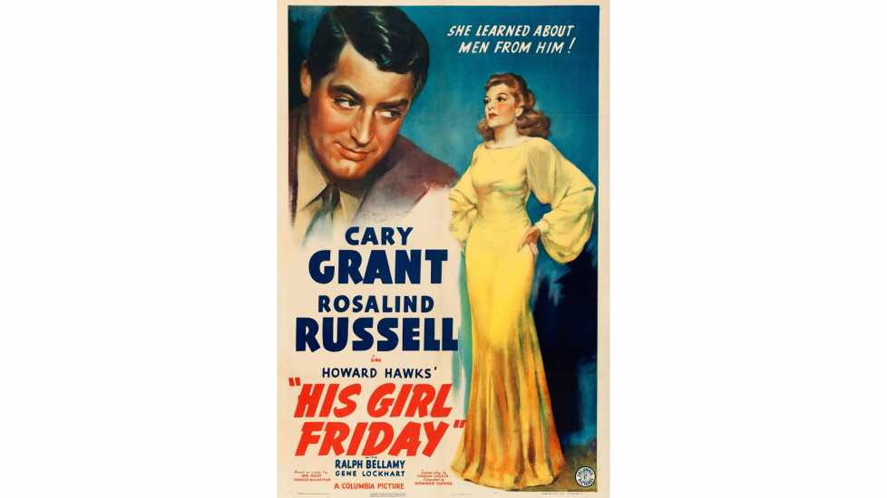 Theatrical poster for the American release of the 1940 film His Girl Friday.