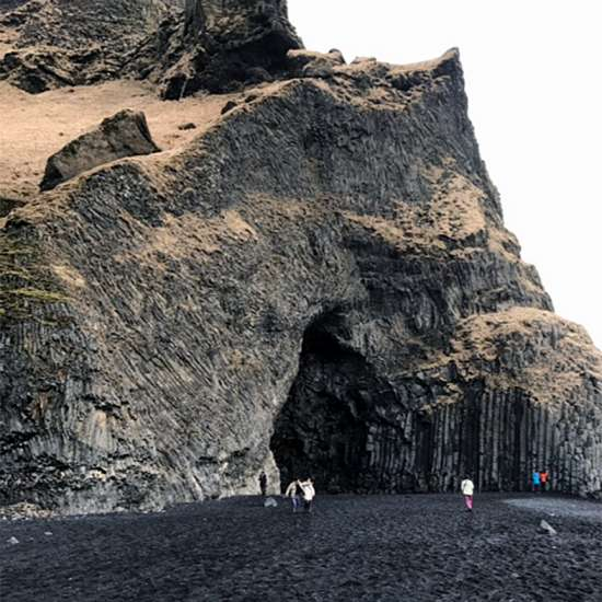 Hálsanefshellir Cave, on the South Coast of Iceland