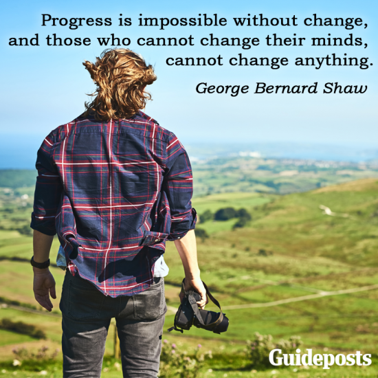 George Bernard Shaw quote: Progress is impossible without change, and those who cannot change their minds, cannot change anything.