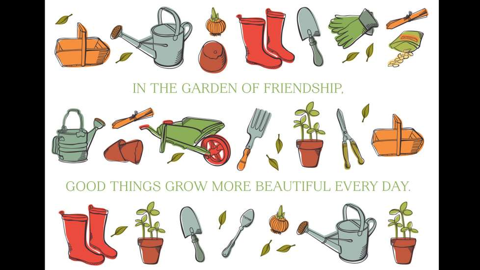 The gift of friendship greeting card guideposts in the garden of friendship good things grow more beautiful everyday m4hsunfo