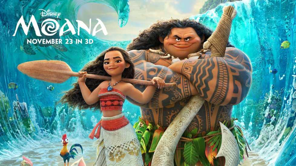 Movie poster for Moana