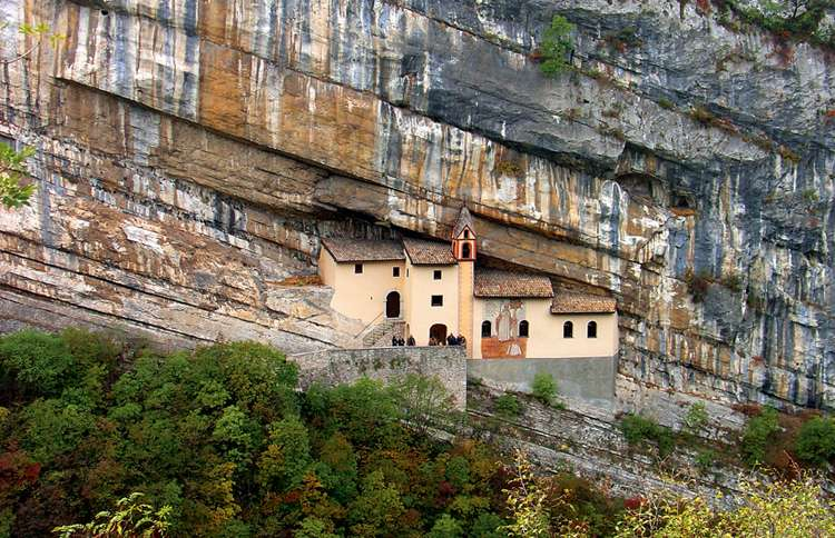 The Hermitage of San Colombano monastery in Trambileno, Italy
